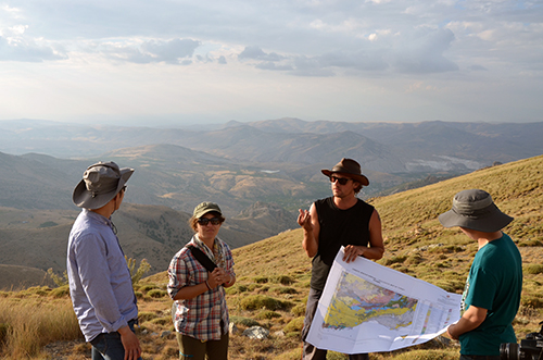 Derya, showing an overview of the Ulukisla basin using the geological map
